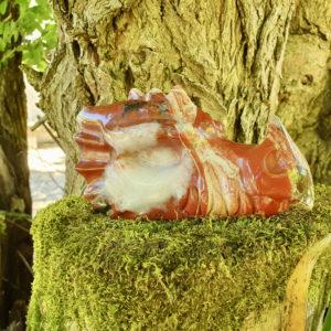 dragon en jaspe rouge